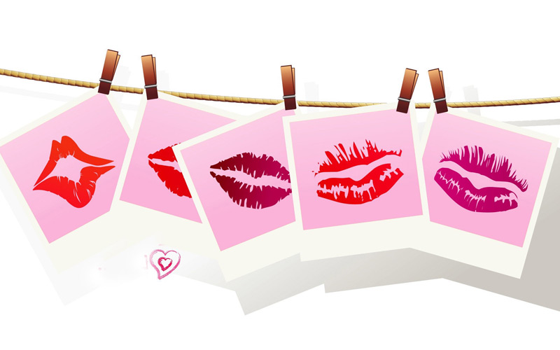 Липография: коллекция поцелуев