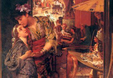 Картина Лоренса Альма-Тадема «Прощальный поцелуй»