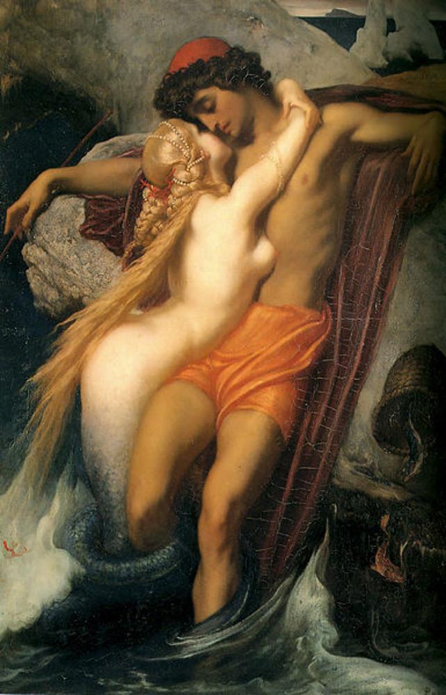 Картина Фредерика Лейтона «Сирена и рыбак»