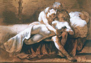 Картина художника Теодора Жерико «Поцелуй»
