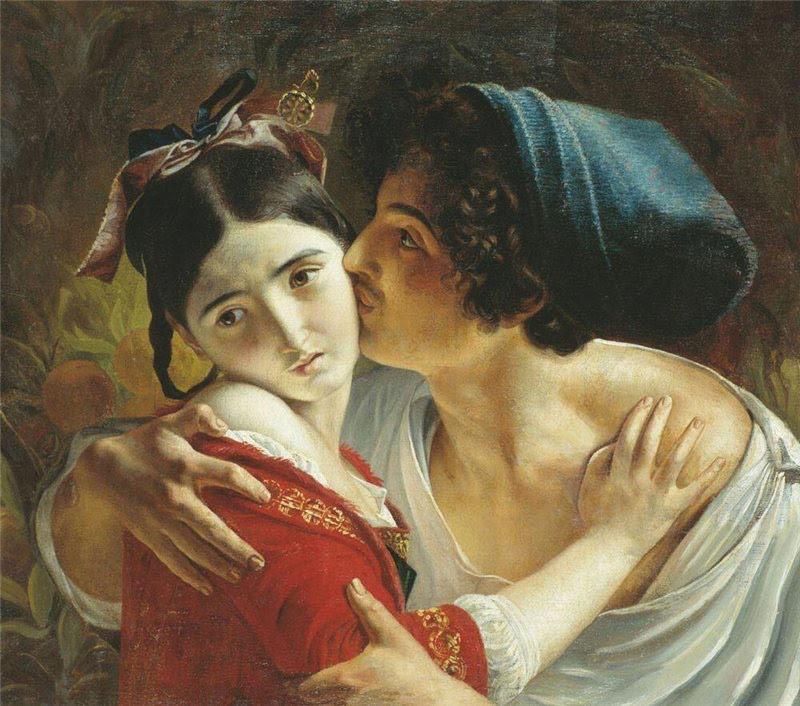 Картина «Поцелуй» Моллера Федора Антоновича