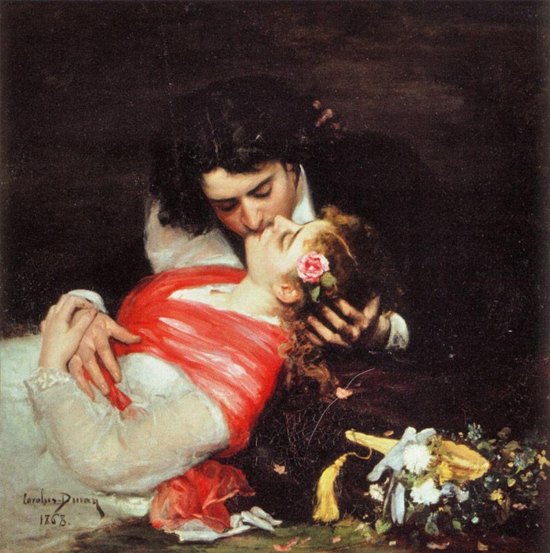 Картина художника Огюста Дюрана «Поцелуй (Le Baiser)»