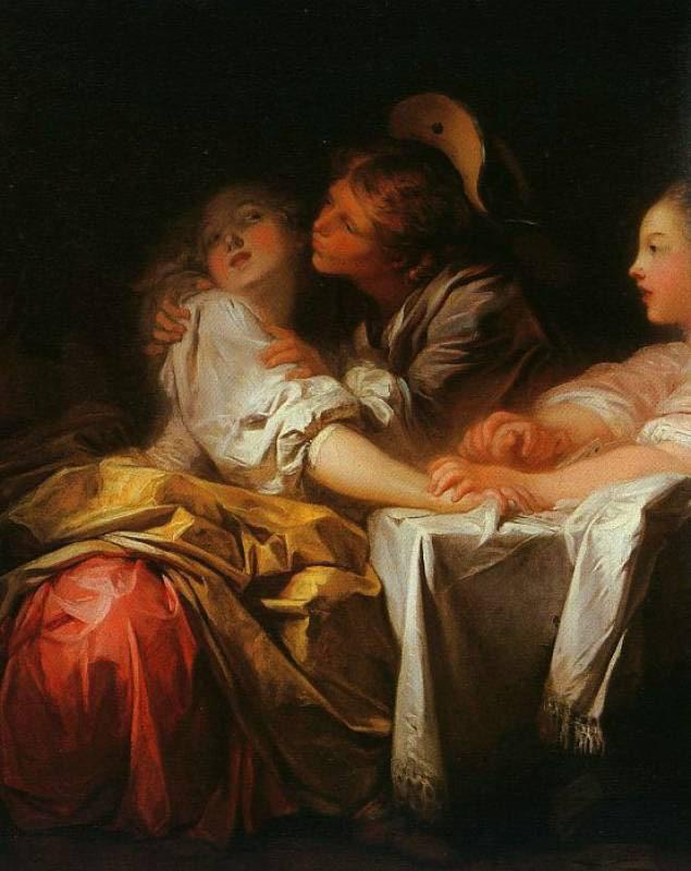 Картины Жана Оноре Фрагонара на тему поцелуя