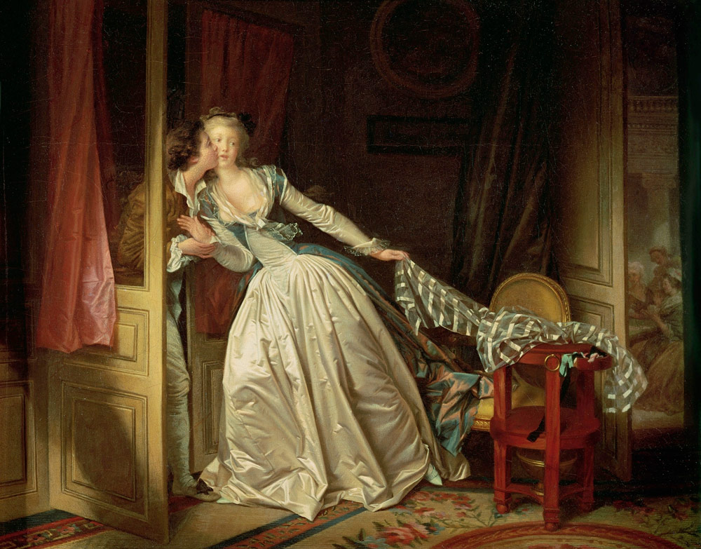 Картина «Поцелуй украдкой» Жана Оноре Фрагонара