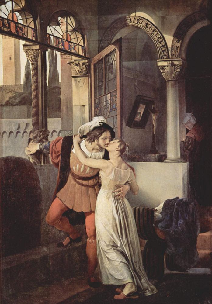 Картина Франческо Айеца  «Последний поцелуй Ромео и Джульетты»