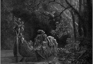 Гравюра Гюстава Доре «Поцелуй в ночи»