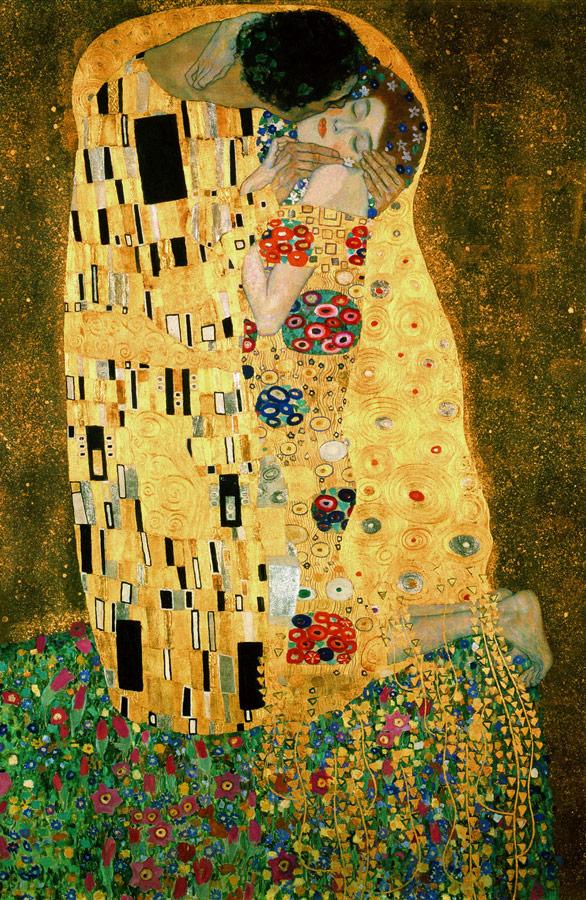Картина художника Густава Климта «Поцелуй»