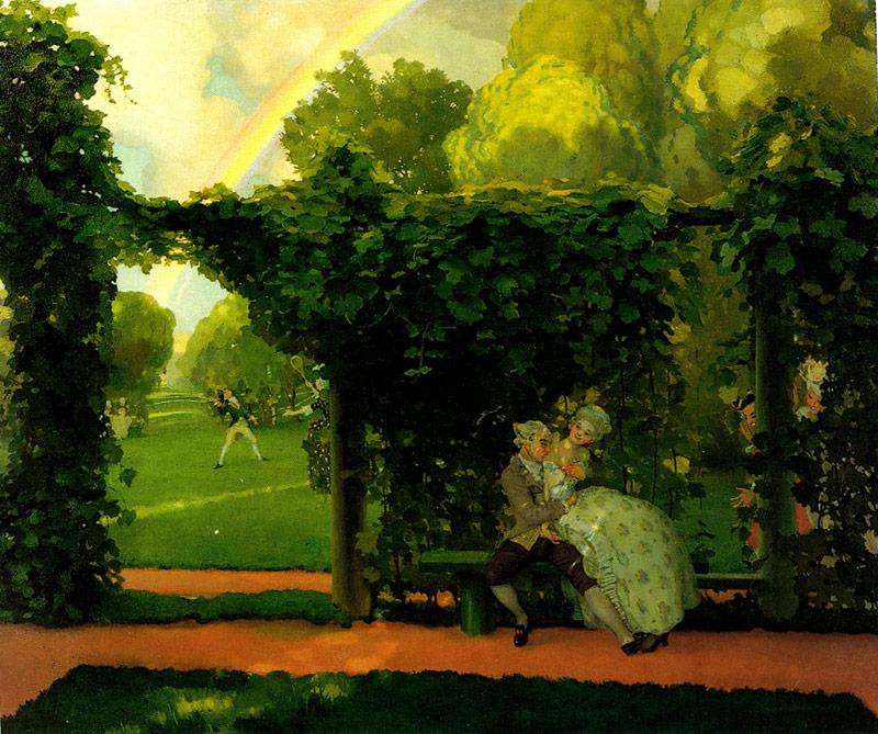 Картины Константина Сомова «Поцелуй», «Осмеянный поцелуй»