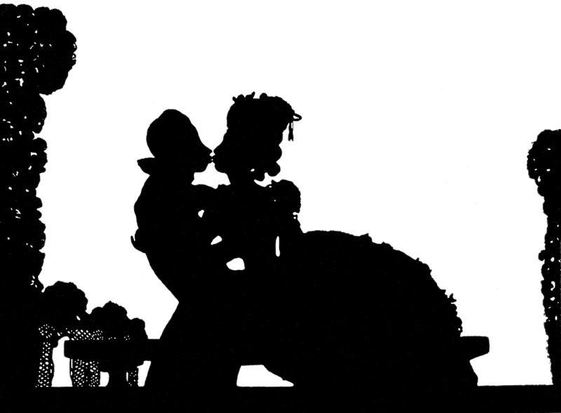 Картина «Осмеянный поцелуй» Константина Сомова
