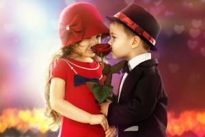 Детский поцелуй