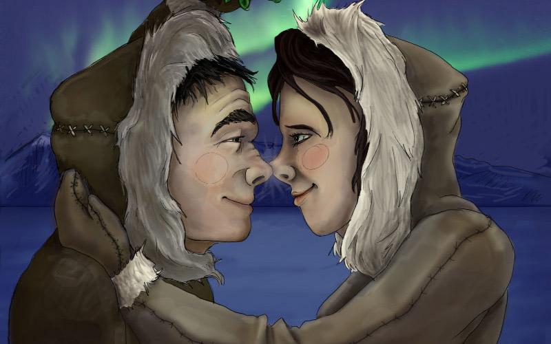 Эскимосский поцелуй